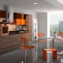 Tủ bếp gỗ công nghiệp – TVN1134