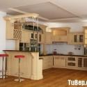 Tủ bếp gỗ Sồi Nga – TVB596