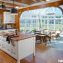 Tủ bếp gỗ tự nhiên – TVN568
