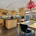 Tủ bếp gỗ verneer Tần Bì có đảo   TVB710