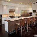 Tủ bếp gỗ MDF Acrylic + bàn Bar – TVB424