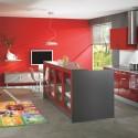 Tủ bếp gỗ Acrylic có đảo   TVB0911