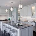 Tủ bếp Gỗ Sồi sơn men trắng chữ L   TVB1029