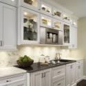 Tủ bếp gỗ tự nhiên Sồi Mỹ sơn men – TVB319