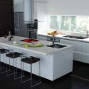 Tủ bếp Acrylic có đảo  TVB698