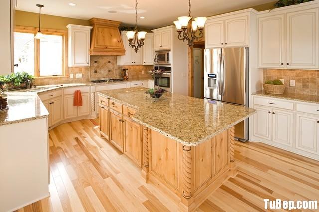 1a21602494n 9.12.jpg Tủ bếp gỗ Sồi sơn men trắng kết hợp vân gỗ tự nhiên chữ L  TVB 1193