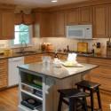 Tủ bếp gỗ Xoan Đào chữ L có bàn đảo   TVB1028