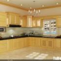 Tủ bếp gỗ Sồi Nga – TVB387