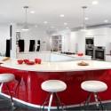 Tủ bếp gỗ MDF Acrylic + Bàn bar phong cách – TVB486
