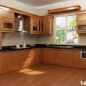 Tủ bếp gỗ Dổi – TVB404