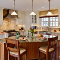 Tủ bếp gỗ Sồi Mỹ – TVB279