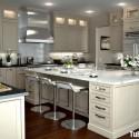 Tủ bếp gỗ tự nhiên – TVN1046
