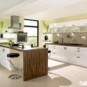 Tủ bếp gỗ MDF Laminate kết hợp bàn đảo– TVB651