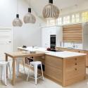 Tủ bếp gỗ Tần Bì có đảo   TVB 1240