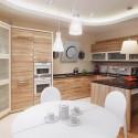 Tủ bếp laminate có đảo  TVB1159