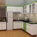 Tủ bếp Acrylic trắng chữ L   TVB1091
