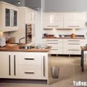 Tủ bếp Acrylic màu trắng chữ U   TVB741