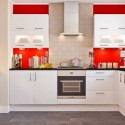 Tủ bếp Acrylic chữ U   TVB0970