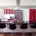 Tủ bếp Acrylic có đảo   TVB668