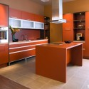 Tủ bếp gỗ công nghiệp laminate   TVB 1043