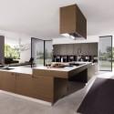 Tủ bếp Laminate màu vân gỗ chữ L   TVB679
