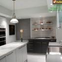 Tủ bếp gỗ công nghiệp – TVN991