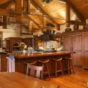 Tủ bếp gỗ tự nhiên  công nghiệp – TVN617