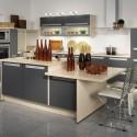 Tủ bếp gỗ Laminate có đảo   TVB1092