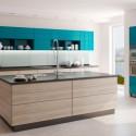 Tủ bếp gỗ Laminate   TVB790