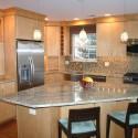 Tủ bếp gỗ Veneer có đảo   TVB0851