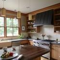 Tủ bếp gỗ tự nhiên Tần Bì – TVB314