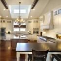 Tủ bếp gỗ Sồi Mỹ sơn men   TVB740