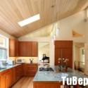 Tủ bếp gỗ tự nhiên hình chữ L có đảo   TVB 1251