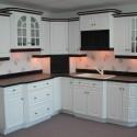 Tủ bếp gỗ Sồi  tự nhiên sơn men   TVB478