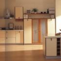 Tủ bếp Laminate màu trắng chữ L có đảo   TVB 1217