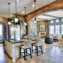 Nội thất Tủ Bếp   Tủ bếp gỗ tự nhiên – TVN355