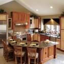 Tủ bếp gỗ Sồi Nga – TVB584