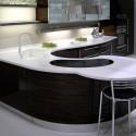 Tủ bếp Acrylic có đảo   TVB711