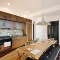 Tủ bếp gỗ tự nhiên gỗ Dổi – TVB327