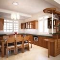Tủ bếp gỗ verneer xoan đào – TVB627