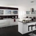 Tủ bếp gỗ Acrylic có đảo   TVB0922