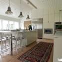 Tủ bếp gỗ Laminate chữ I song song có đảo   TVB0836