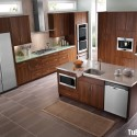 Tủ bếp gỗ công nghiệp – TVN901