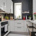 Tủ bếp gỗ Acrylic trắng   TVB743
