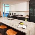 Tủ bếp gỗ Acrylic có đảo   TVB0849