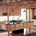 Tủ bếp gỗ Tần Bì có đảo   TVB0869