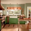 Tủ bếp gỗ tự nhiên  – TVN1177