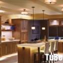 Tủ bếp gỗ xoan đào tự nhiên   TVB 1255