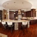 Tủ bếp gỗ xoan đào – TVB641