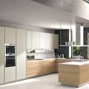 Tủ bếp Laminate màu trắng chữ U   TVB1222